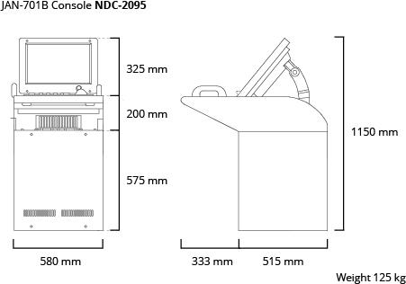 JAN-701B console dim