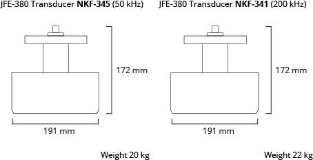 JFE-380 transducer dim