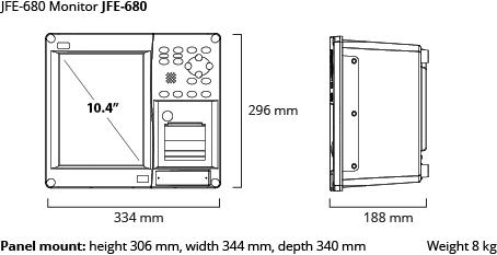 JFE-680 monitor dim