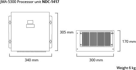JMA-5300 processor unit dim