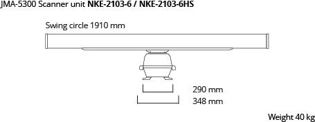 JMA-5300 scanner unit 6ft 10kW dim
