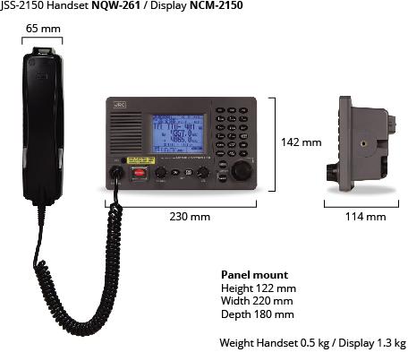 JSS-2150 handset display dim