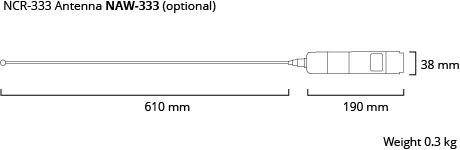 NCR-333 antenna dim