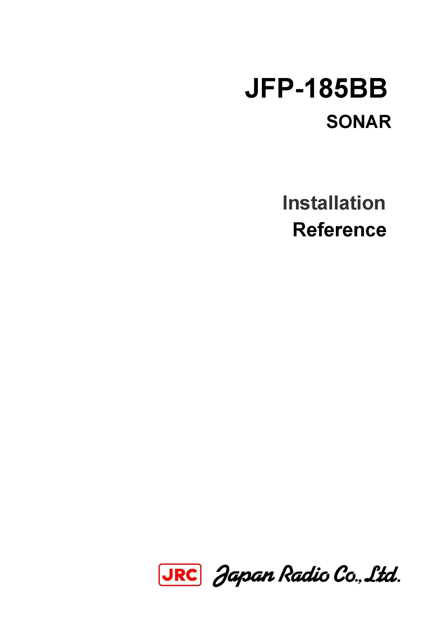 JFP 185BB Installation manual