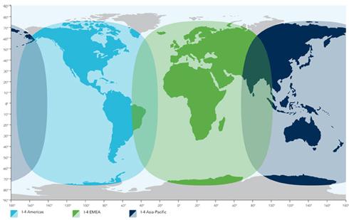 Inmarsat covarage map