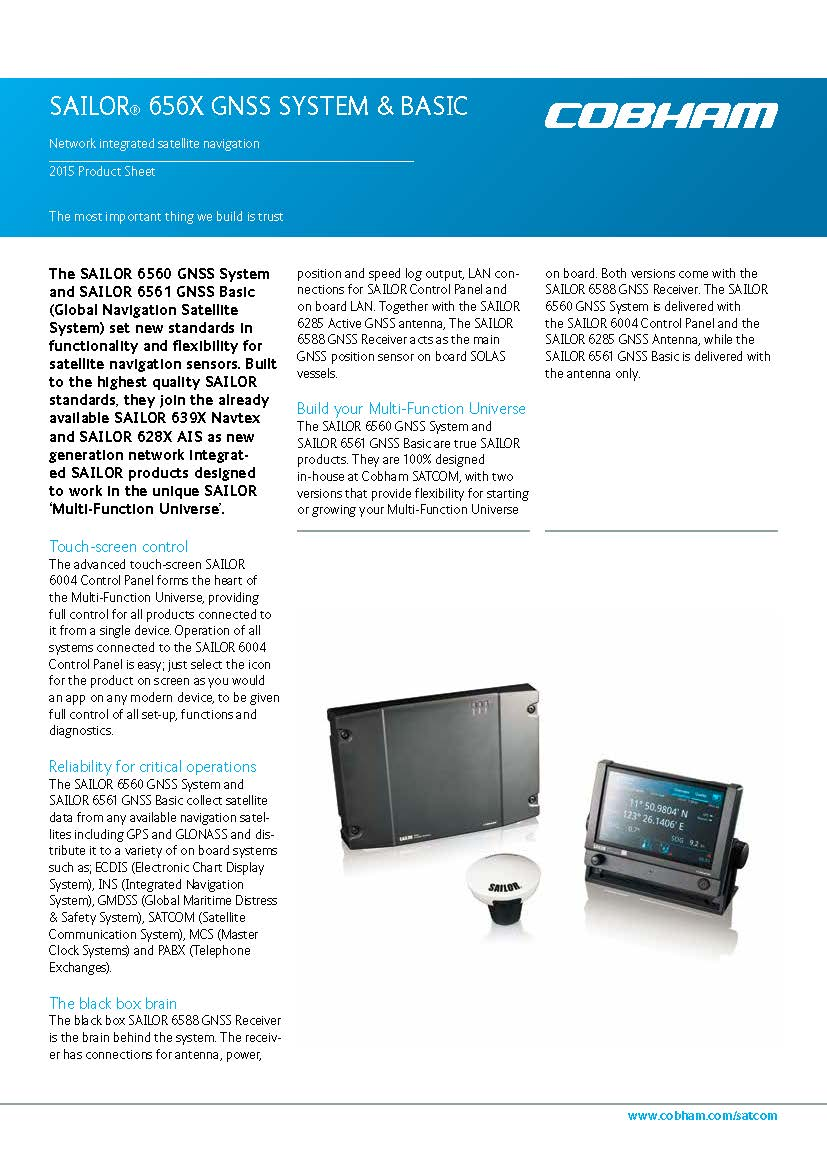 Sailor 6560 6561 GNSS brochure Page 1