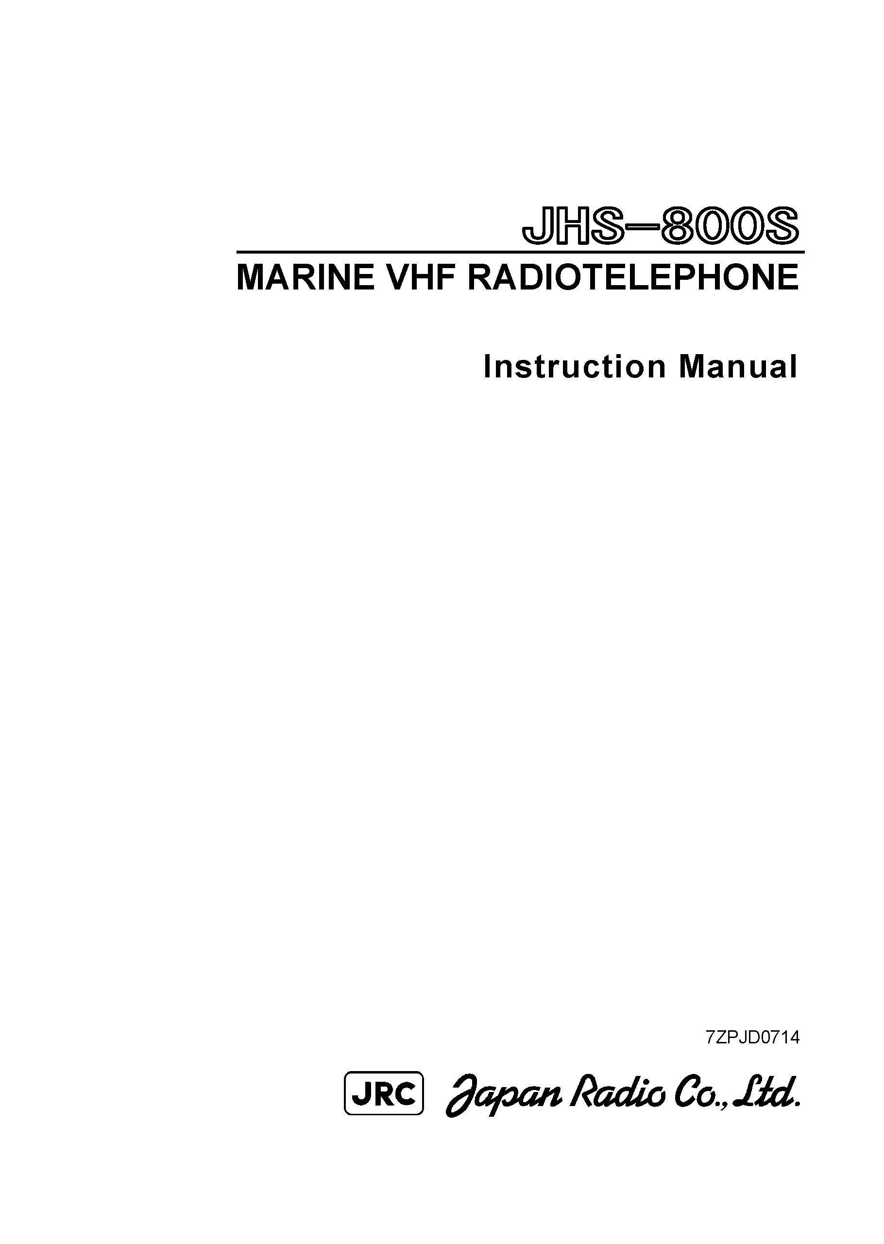 JHS 800s instructionmanual 1