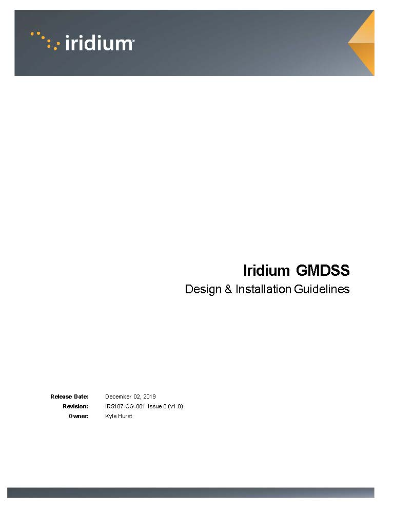 Iridium GMDSS Design and Installation Guidelines 010620 Page 01